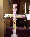 flowered cross post-liturgy
