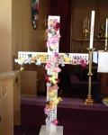 flowered cross post-liturgy